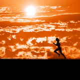 Running. Early morning run Royalty Free Stock Image