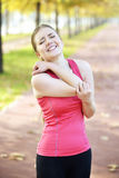 Running elbow injury and pain Royalty Free Stock Image