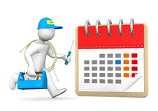 Running Electrician Calendar Royalty Free Stock Photos