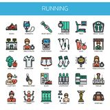 Running Elements , Pixel Perfect Icons Royalty Free Stock Image