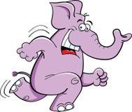 Running Elephant royalty free illustration