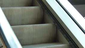 Running Elevator Steps stock video footage