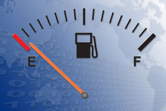 Running on empty. Running on low fuel Stock Images