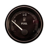 Running on empty. Isolated close-up of a fuel gauge Royalty Free Stock Photography