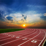 Running empty Track Stock Images