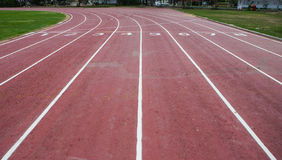 Running empty track Royalty Free Stock Images
