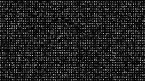 Running encrypted data stock video footage