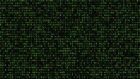 Running encrypted data stock illustration