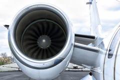 Running engine turbine Stock Image