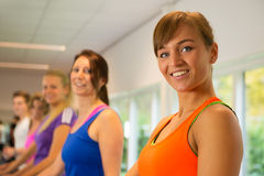 Running exercise in the sportclub Stock Photography