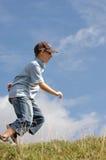 running för 2 pojke royaltyfria foton