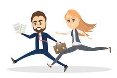 running för affärsfolk stock illustrationer