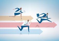 running för begrepp för konkurrens för portföljaffärsaffärsman stock illustrationer