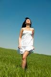 running för blå green fotografering för bildbyråer