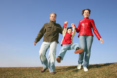Running family Stock Photos