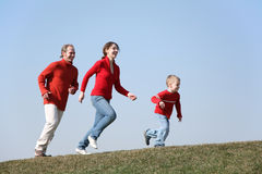 Running family Stock Image