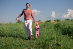 Running family Stock Photos