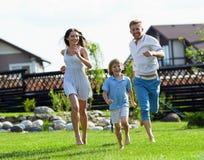 Running family Royalty Free Stock Photos