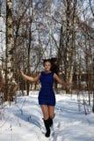 Running fashion woman Royalty Free Stock Photography