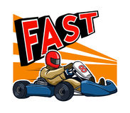 Running Fast Gokart Royalty Free Stock Images