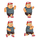 Running Fat Boy Animation Sprite Stock Photography
