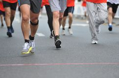 Running feet Stock Images