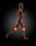 Running female medical skeleton. 3D render of a running female medical skeleton Stock Photo