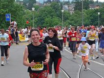 Running Females Stock Photo