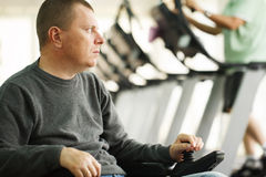 Running at the fitness club Stock Image