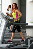 Running at the fitness club Stock Photos