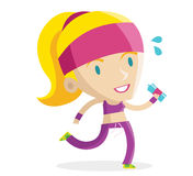 Running fitness girl Royalty Free Stock Photo