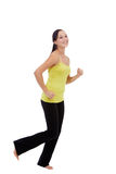 Running fitness woman isolated Stock Photography
