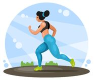 Running fitness woman stock photography