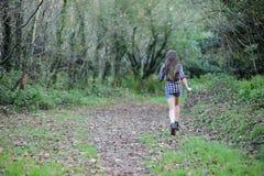 Running flicka Fotografering för Bildbyråer
