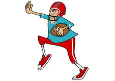Running the football Stock Image