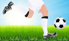 Running football player Stock Photography