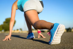 Running footwear and sport concept Stock Photos