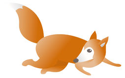 Running fox escaping Royalty Free Stock Image