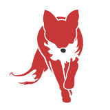 Running Fox Icon 02 Stock Image