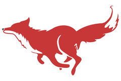 Running Fox Icon 03 Stock Photography