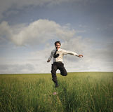 Running free royalty free stock photography