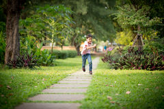Running free in the nice park Stock Images