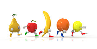 Running fruit Royalty Free Stock Photography