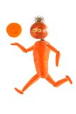 Running funny little man made from vegetables Stock Photography