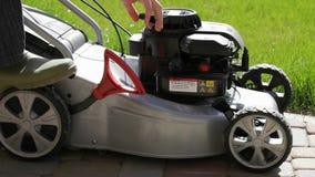 Running Gasoline Mowers stock video