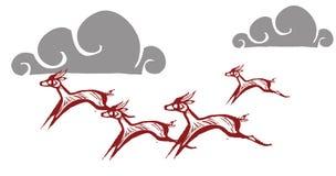 Running Gazelles #4 Stock Photography