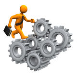 Running Gears Royalty Free Stock Images