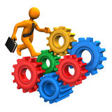 Running Gears Royalty Free Stock Image
