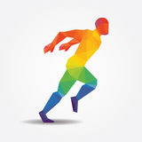 Running geometric concept design colour Illustration vector. Royalty Free Stock Image