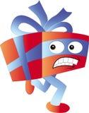 Running gift character. Illustration cartoon Royalty Free Stock Photo